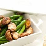 Σαλάτα με μανιτάρια και πράσινα φασολάκια